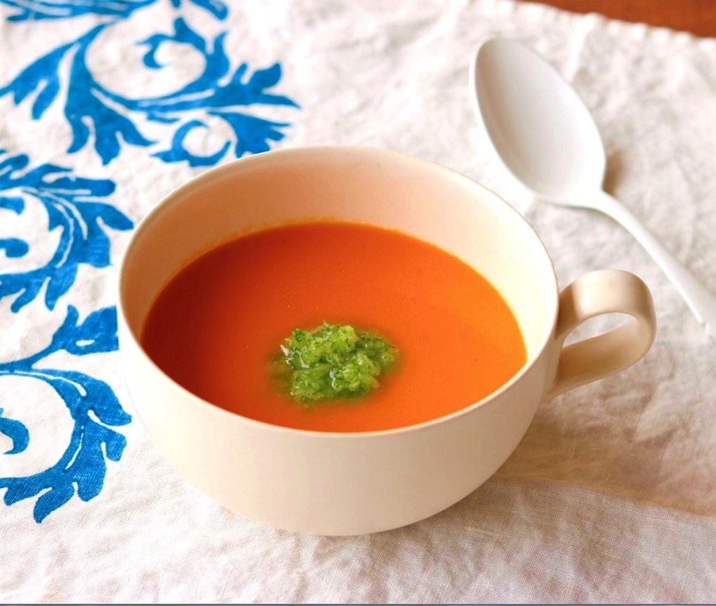 トマトとにんじんの和風冷製スープ☆