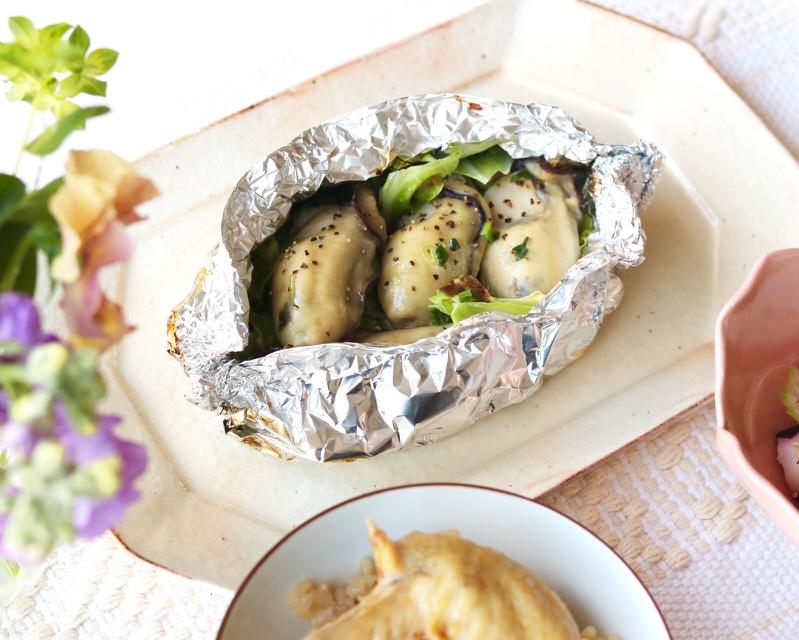 牡蠣とキャベツの液体塩こうじバター焼き☆
