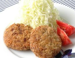 熟成ひき肉メンチカツ~液体塩こうじ使用~