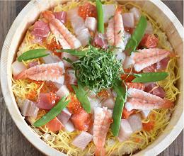 液体塩こうじでマグロ風彩り海鮮ちらし寿司