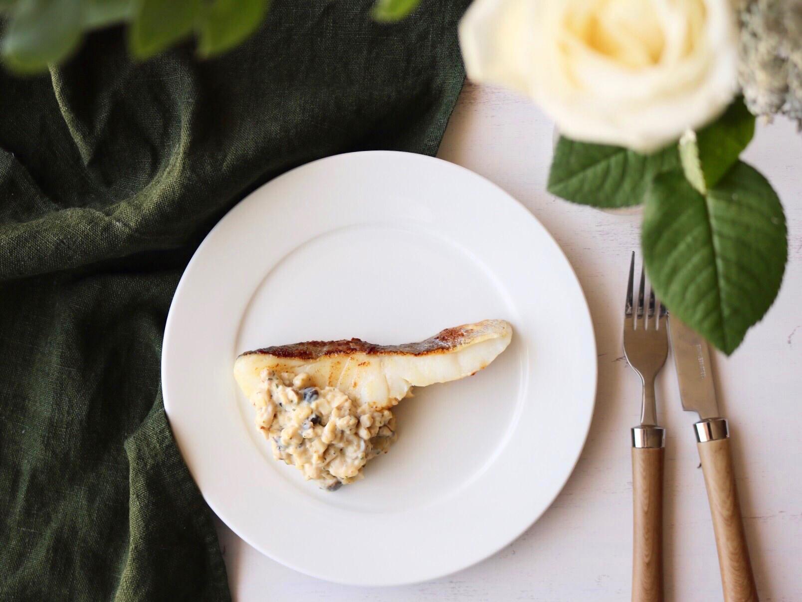 鱈のムニエル~塩こうじと豆乳のソース~