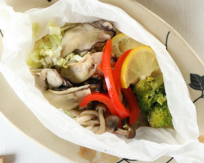 液塩で!牡蠣と彩り野菜の塩こうじ蒸し☆