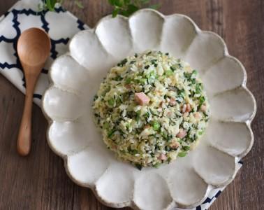 液体塩こうじ使用!小松菜とベーコンの炒飯