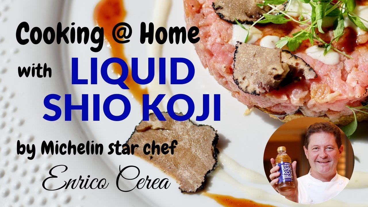 【Cooking @ Home with LIQUID SHIO KOJI】BEEF TARTARE ON PASTRY MARINATED WITH LIQUID SHIO KOJI