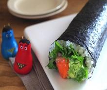 サーモンとアボカドのサラダ恵方巻☆