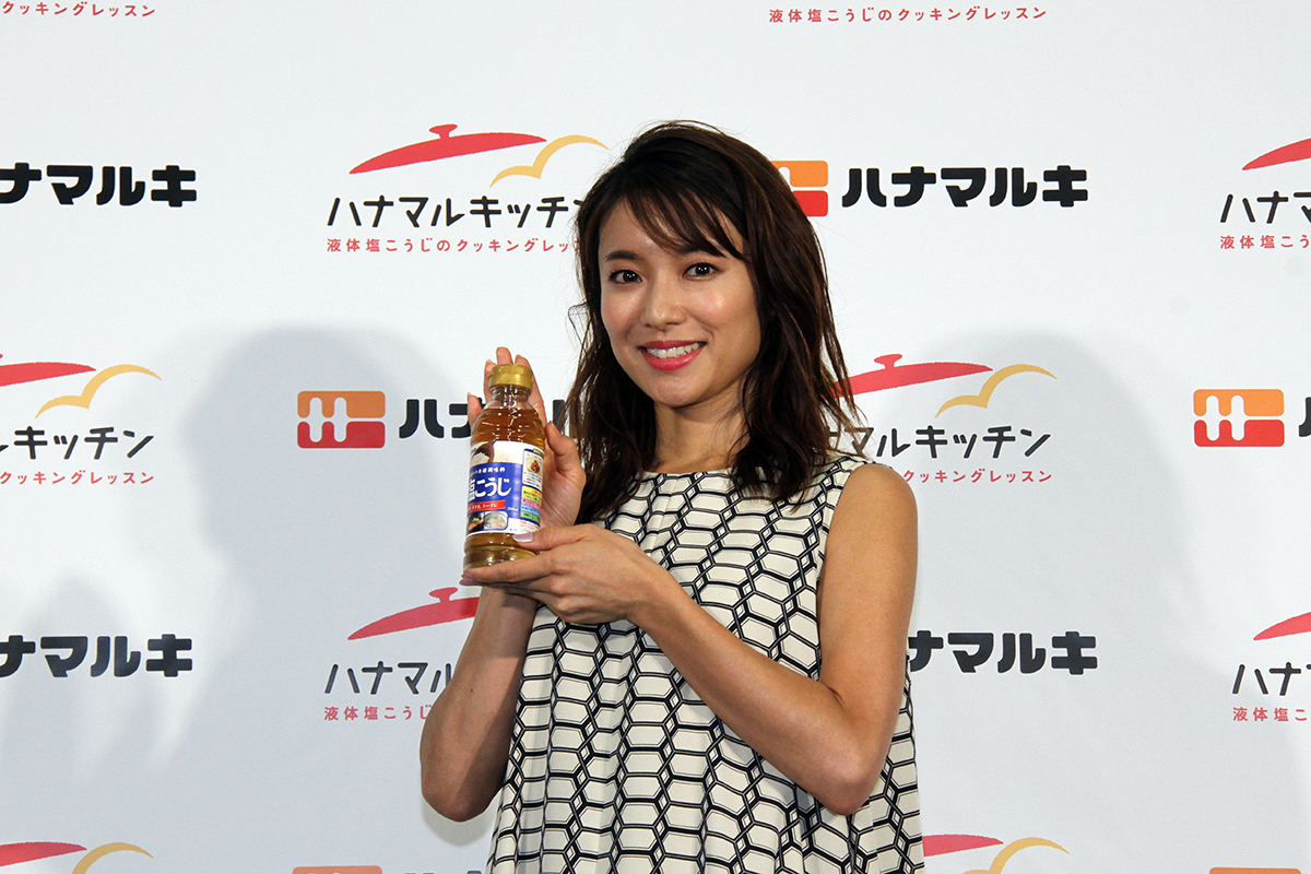ハナマルキッチン2019記者発表会(ゲスト:内山理名さん)