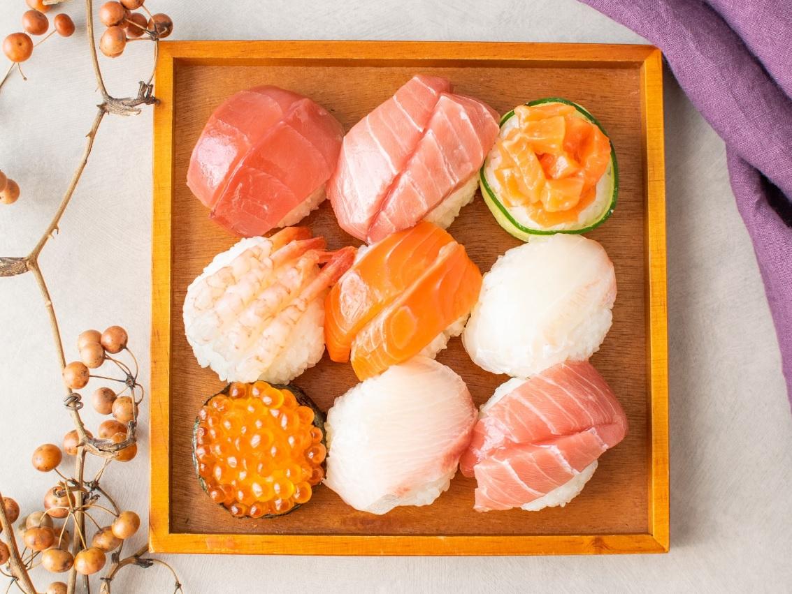 液体塩こうじで手まり寿司♪