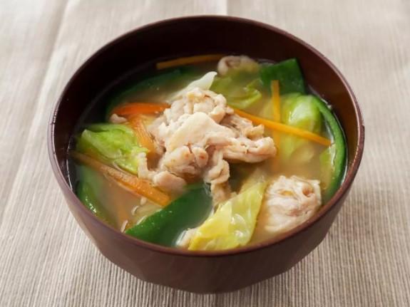 肉野菜炒めみそ汁★