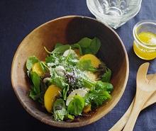 柿の液塩ドレッシングサラダ♪