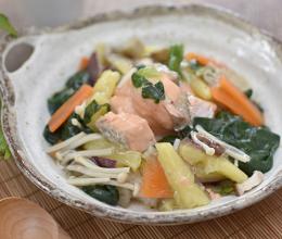 鮭と秋野菜のあんかけ丼☆