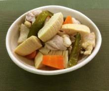 液体塩こうじで簡単!筍と鶏肉の煮物