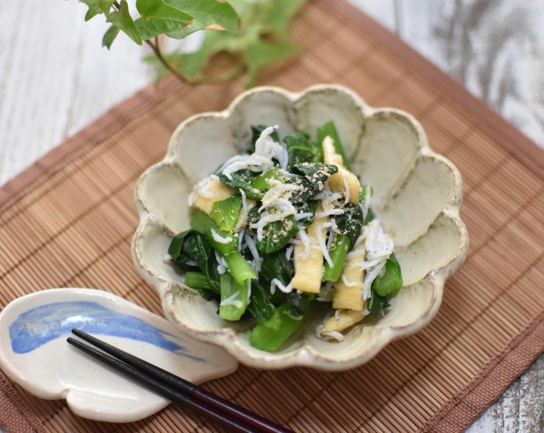 液体塩こうじでしらすと小松菜の和え物☆