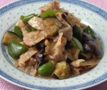 簡単柔らか☀熟成豚肉となすの味噌炒め