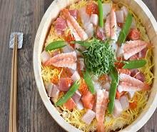 体塩こうじでマグロ風彩り海鮮ちらし寿司