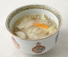ギョーザの塩こうじスープ