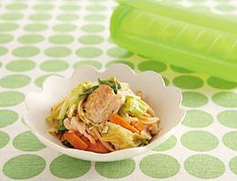 豚肉と野菜の塩こうじプルコギ風