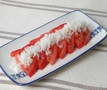 冷やしトマト~液体塩こうじで漬け込み~